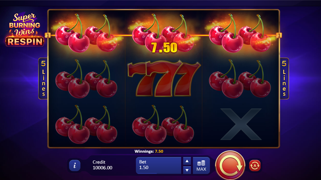 Super Burning Wins - Casino Video Slot Review